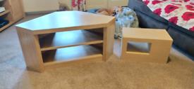 Next corner TV unit & next display unit, oak finish