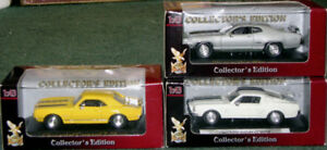 Set of 3 classic Muscle-Cars in 1/43 scale