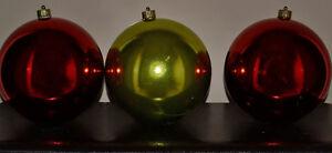 Three Large Christmas Bulbs