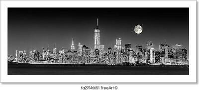 New York City Manhattan Downtown Skyline Art Print Home Decor Wall Art Poster