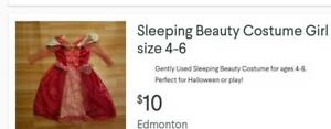 Disney's Sleeping Beauty Costume Girl size 4/6