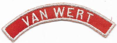 Van Wert Red and White RWS Community Strip Vintage Boy Scouts BSA
