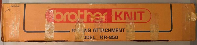 Brother Model KR-850 Ribbing Attachment Knitting Machine Accessory W/Manual