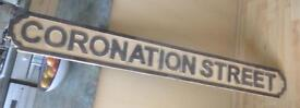 Coronation street sign.