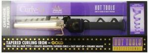 NEW Hot Tools HTG1852 Grande Tapered Curling Iron, Gold / Black, 3/4-Inch to 1 1/4-Inches