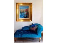 """Venetian View"" framed original oil painting"