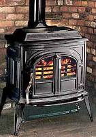 Coal/wood stove with chiminey