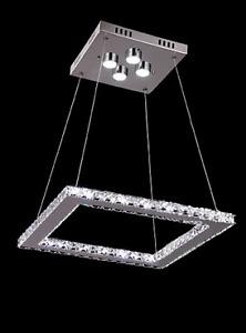 Luminaire suspendu DEL haute qualité en cristal (Neuf en boîte)