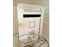 HIRE ONLY: Lockable Large Mirrored Wedding Postbox - Personalisation optional