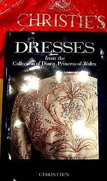 PRINCESS DIANA CHRISTIE'S AUCTION CATALOG DRESSES H/C WITH ORIGINAL CARRIER BAG