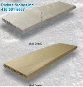 Wall coping , Natural Stones, Landscaping, Patio,
