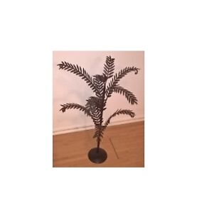 "Wrought Iron 27"" Tall Free Standing Ornament Hanging Tree"