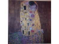 Gustav Klimt - Painting The Kiss-printed on canvas from the Tate, modern-NEW-NW3
