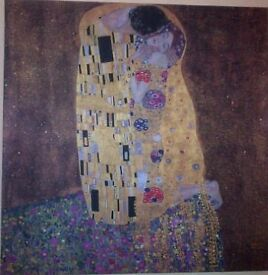 Gustav Klimt - Painting The Kiss-printed on canvas from Tate, modern-BRAND NEW-NW3