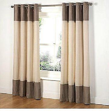 Taupe Lined Curtains Ebay