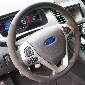 oem new 2013 ford taurus sho alcantara suede leather steering wheel non heated. Black Bedroom Furniture Sets. Home Design Ideas