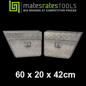 ALUMINIUM PAIR OF TOOLBOXES UNDER BODY 600mm TOOL BOX UNDER TRAY MRT1