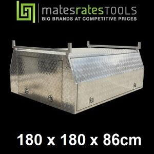 ALUMINIUM UTE CANOPY for DUAL CAB - BRAND NEW - OPTIONAL LADDER RACKS