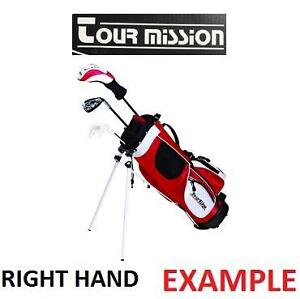 NEW TOUR MISSION YOUTH GOLF SET - 110221593 - PREMIUM 424 SPEED PACKAGE - AGES 9-12 - RIGHT HAND
