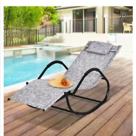 New sun lounger chair zero gravity rocker with pillow