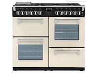 2nd hand - RICHMOND1000DFT 100cm Dual Fuel Range Cooker - Champagne - A Rated