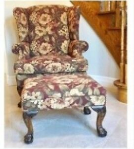Arm Chair & Footrest - Barrymore Furniture for $200
