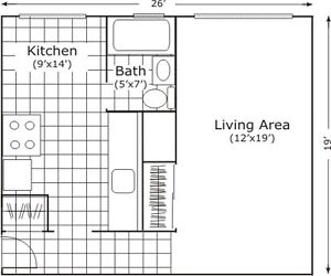 Large Bachelor Apartment for Rent