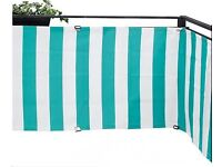 NEW Ikea Balcony Patio Fence Privacy Shield Shade Protects from Wind and Sun 250 x 80cm