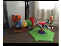 Bouncing zebra And rocking chair