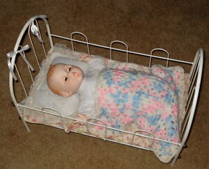 Vintage Doll Bed And Doll