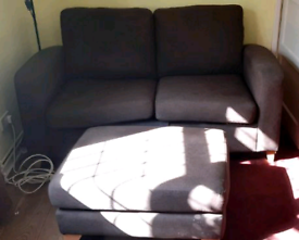 DFS 2 seater sofa bed and foot stool