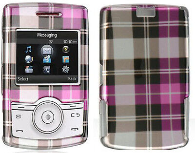 Pink Plaid Checkered 3d Cover Hard Case For Samsung Propel A767 Cell Phone on sale