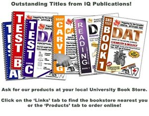 IQ Publications DAT (3 PAT, 3 RCT, and Soap Carving) London Ontario image 1