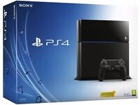 Playstation 4 Console, 500GB Black, Boxed As New
