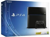 PS4 console black, boxed 500GB (used)