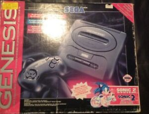 Sega Genesis With Box, 2 Controllers and 12 Games