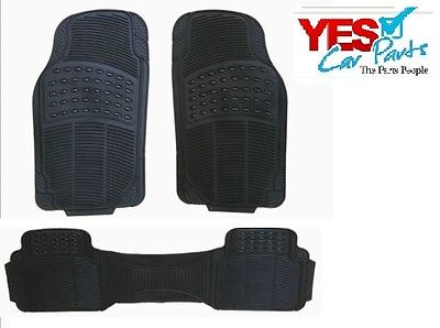 JEEP COMPASS ALL YEARS 3 PIECE HEAVY DUTY WATERPROOF BLACK RUBBER CAR MAT