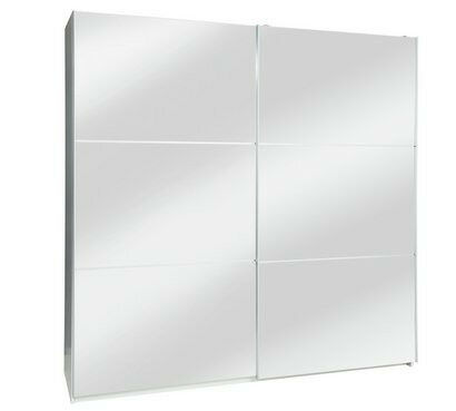 Hygena Bergen Extra Large Sliding Mirrored Wardrobe Full