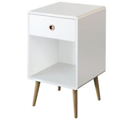 Softline 1 Drawer Bedside Chest - White