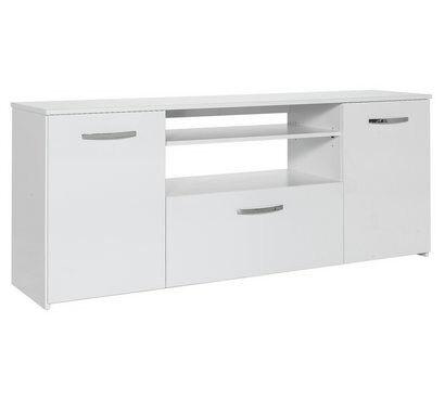 Hygena Hayward 2 Door 1 Drawer Low Sideboard - White