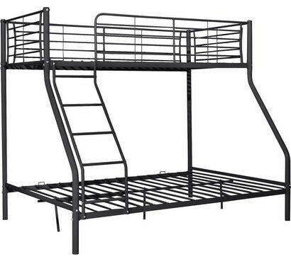 Home Lucas Metal Triple Bunk Bed Frame Black In Wolverhampton