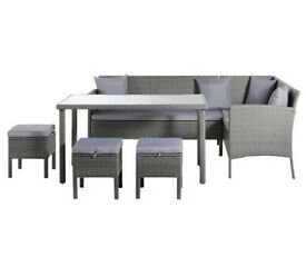 Home 8 Seater Rattan Effect Corner Sofa Set