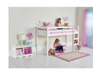 Kaycie Wooden Mid Sleeper Shorty Bed Frame - White