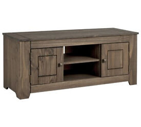 HOME Amersham Large Solid Wood TV Unit - Dark Pine