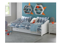 Kids Brooklyn Day Bed with Trundle - White