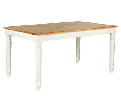 Heart of House Amberley Oak Veneer 6 Seater Table - Two Tone