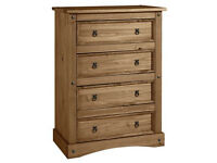 Puerto Rico 4 Drawer Chest - Dark Pine