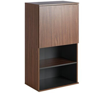 Hygena Modular Single Door Wall Cabinet - Walnut Graphite