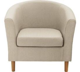 Fabric Tub Chair - Mocha