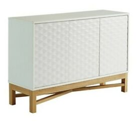 Hygena Zander Textured Large Sideboard - White & Oak Effect